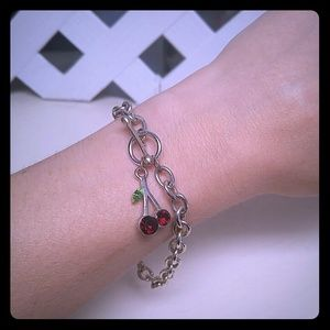Cherry Pendant Toggle Bracelet